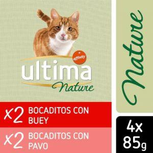Comida gato nature buey ultima 4x85gr