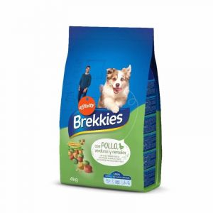 Comida perro pollo brekkies 4k