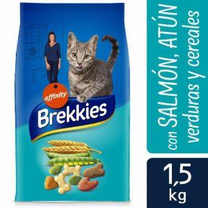 Comida gato mix pescado brekkies 1,5k