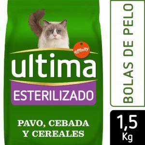 Comida gato esterilizado bola de pelo ultima 1,5k