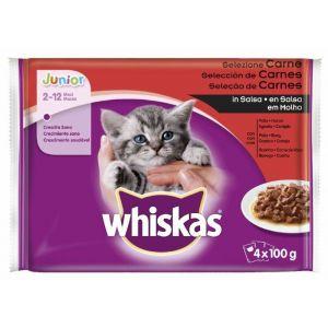 Comida gato selección de carnes whiskas p4x100g