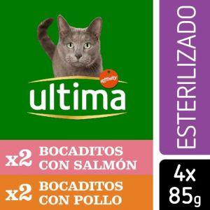 Comida gato esterilizado fit&delicious mix carne ultima p4x85gr