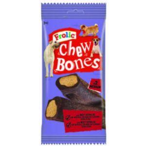 Snack perro chew bones frolic 170g