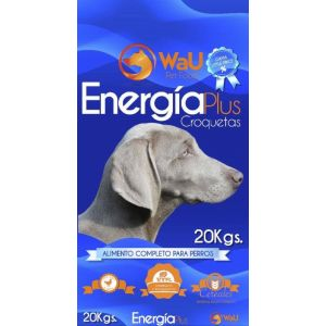 Comida perro energy plus wau 20k