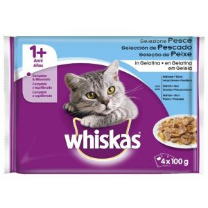 Comida gato selección de pescados whiskas p4x100g