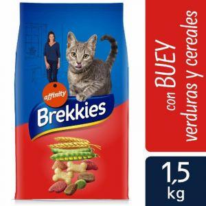 Comida gato buey brekkies 1,5k