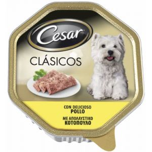Comida perro pollo cesar 150g