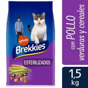 Comida gato esterilizados brekkies 1,5k