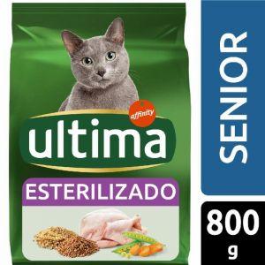 Comida gato estirilizado senior  ultima 800g