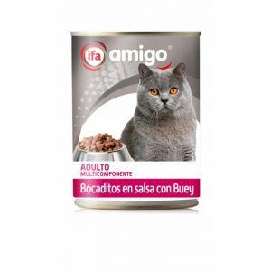 Comida gato bocaditos buey ifa amigo 415g