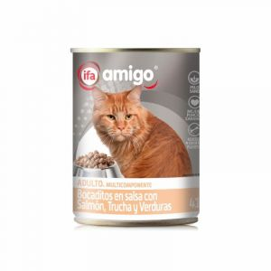 Comida gato salmon ifa amigo 415g