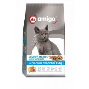 Comida seca para gatos con pollo ifa amigo 1,5kg