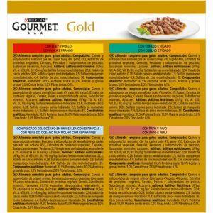 Comida gato doble placer surtidos  gourmet gold p8x85g