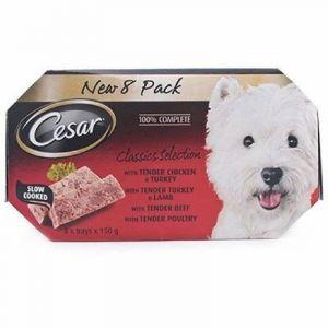 Comida perro seleccion cesar multipack 4x150k