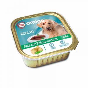 Comida perro pollo/verdura ifa amigo tarrina 300g
