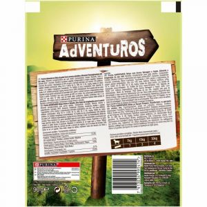Snack perro strips purina adventuros 90g