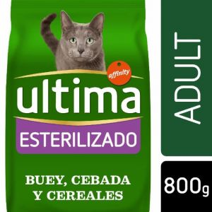 Comida gato esterilizado buey ultima 800g p4x85g