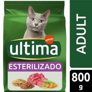 Comida gato esterilizado buey ultima 800g