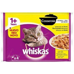 Comida gato casserole ave whiskas p4x85g