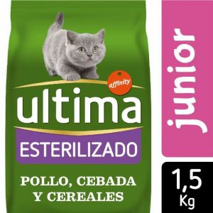 Comida gato estirilizado junior ultima 1,5k