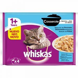 Comida gato casserole pescado whiskas 4x85gr