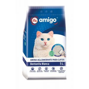 Arena gatos bentonita blanca ifa eliges 5l