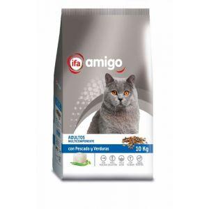 Comida gato pescado vegetal ifa amigo 10kg