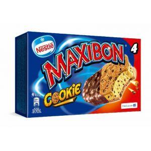 Helado maxibon cookie nestle p4x150ml