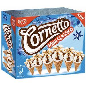 Helado cornetto mini clasico frigo p6+2 360ml