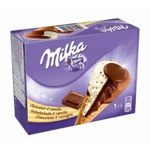 Helado cono milka/vainilla milka p4x110ml