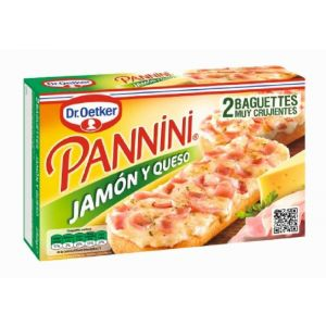Pannini jamon y queso dr.oetker 250g