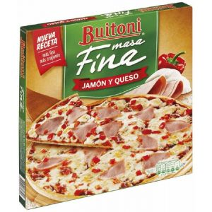 Pizza fina queso/jamon buitoni 320g
