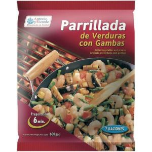 Parrillada  verdura/gambas antonioyricardo 600g