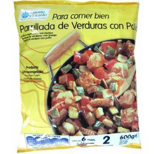 Parrillada  verdura/pollo antonioyricard 600g