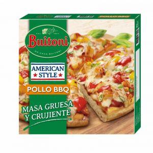 Pizza estilo americano pollo barbacoa buitoni 425g