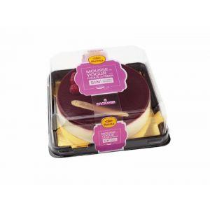 Tarta mousse sin azucar yogur fresa reina 500gr