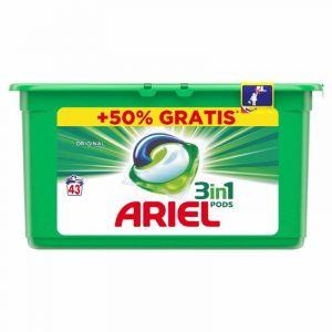 Detergente en cápsulas 3 en 1 ariel 41 dosis