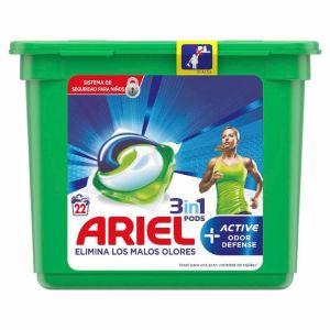 Detergente capsulas active ariel 22dosis