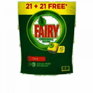 Lavavajillas máquina pastilla limón fairy ten1 21+21 dosis