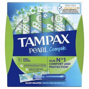 Tampon super compak pearl tampax 16 und