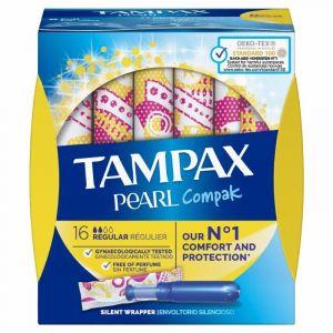 Tampon regular compak pearl tampax 16ud