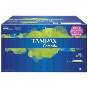 Tampon super compak tampax 36ud