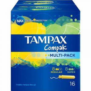 Tampon multipack compak tampax 8+8ud