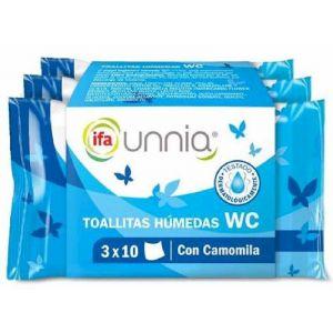 Papel higiénico húmedo biodegradable pack de 3 unidades ifa unnia