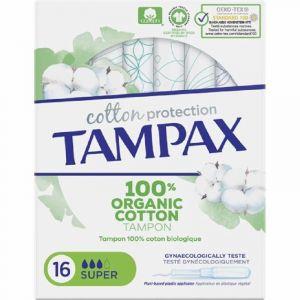 Tampon organic super tampax 16uds