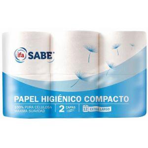 Papel higienico ifa sabe 2cx12r doble