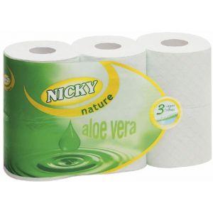 Papel higienico nature nicky 3capasx6unds