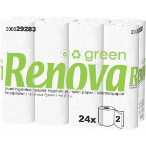 Papel higienico green renova 24 rollos