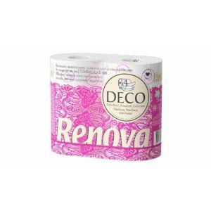 Papel higienico decorado renova 4capas 4rollos