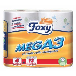 Papel higienico mega3 4 rollos